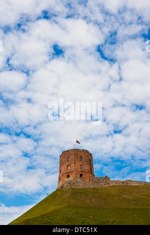 Tower of Gediminas, Vilnius, Lithuania - Stock Photo
