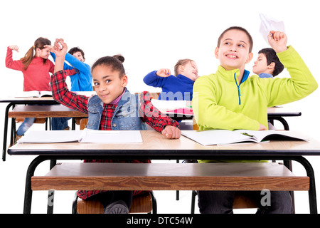 Chaos in the children's classroom - Stock Photo