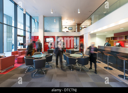 The business lounge at 11 Brindleyplace. - Stock Photo