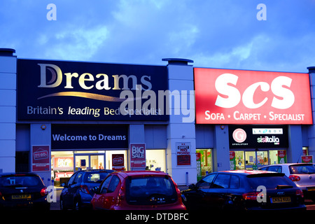 Dreams and SCS stores in Northampton - Stock Photo