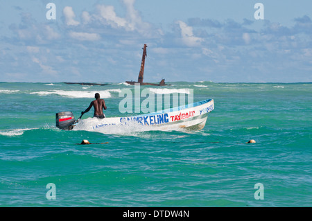 Snorkeling boat. Punta Cana. - Stock Photo
