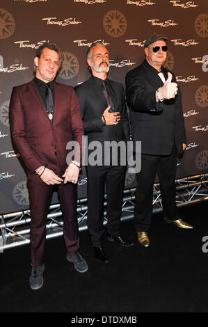Triggerfinger is a Belgian rock band  at Thomas Sabo Karma Night at Postpalast.  on Saturday February 15, 2014 in - Stock Photo