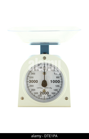 Weighing apparatus for kitchen scale from front view. - Stock Photo