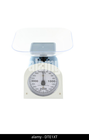 Weighing apparatus for kitchen scale from top front view. - Stock Photo