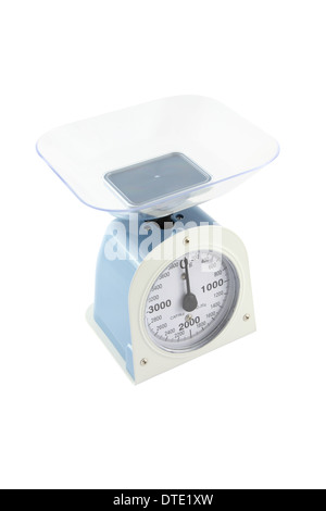 Weighing apparatus for kitchen scale from top side view. - Stock Photo
