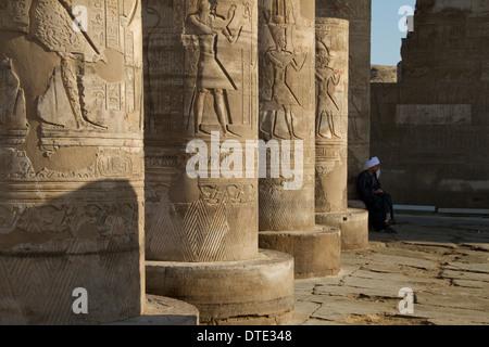 Sobek Temple, Upper Nile, Egypt - Stock Photo