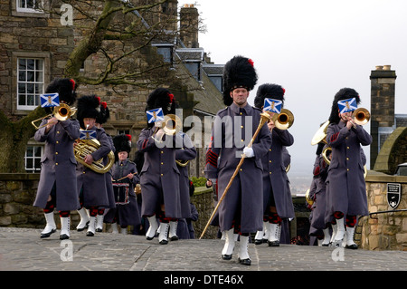 Scotlands commemoration of the Queen II's accession to the throne and the Band of the Royal Regiment of Scotland - Stock Photo