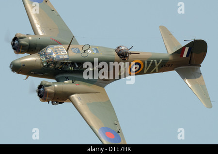 The Avro Anson was a British twin-engined, multi-role aircraft that served with the Royal Air Force from 1936. Trainer/transport - Stock Photo