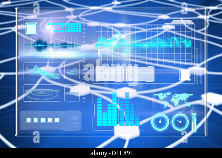 Composite image of business interface - Stock Photo
