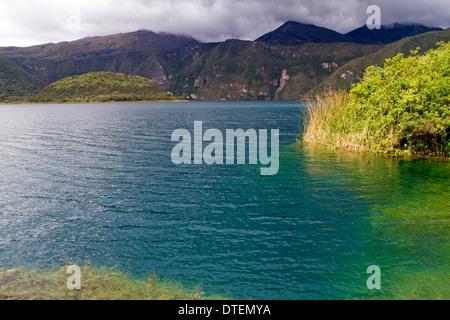 Laguna de Cuicocha (Guinea Pig Lake) in Reserva Ecologica Cotacachi-Cayapas - Stock Photo