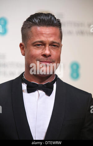 US actor Brad Pitt poses in the press room of the 66th annual British Academy Film Awards aka the EE British Academy - Stock Photo