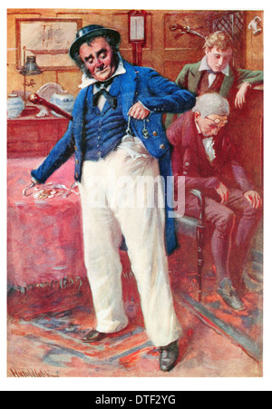 Captain Cuttle's bright idea Novel by Charles John Huffam Dickens - Stock Photo