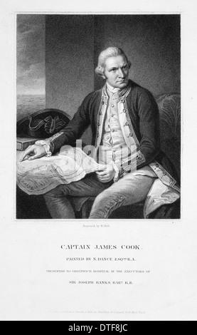 Captain James Cook (1728-1779) - Stock Photo
