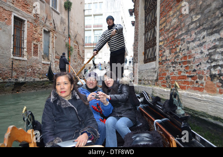 Venice can be the peak of your tour as you are glided along by your musical Gondolier singing 'O Sole Mio' or a - Stock Photo