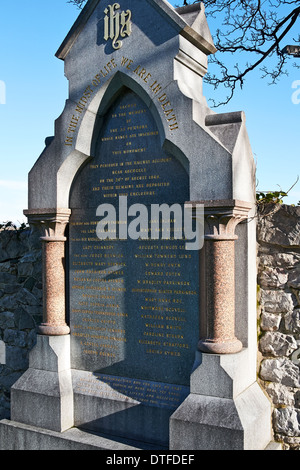 Memorial in Abergele Church yard in North Wales to the victims of the rail disaster on 20th of August 1868 at Llanddulas. - Stock Photo