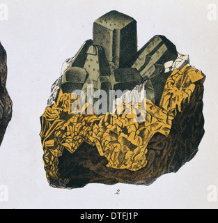 Plate 10, fig 2 from Mineralienbuch - Stock Photo