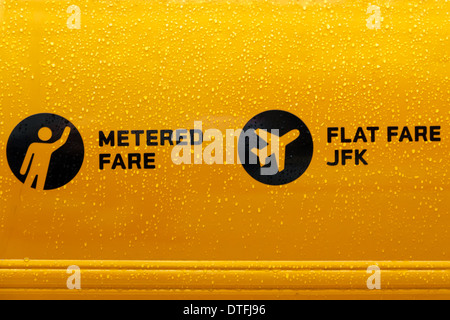New York taxi cab door logo - Stock Photo