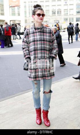 Theresa Morris arriving at the Herve Leger runway show in New York City - Feb 8, 2014 - Photo: Runway Manhattan/Charles - Stock Photo