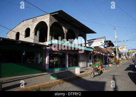 Street scene Moyogalpa Nicaragua - Stock Photo