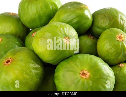 Figs fruit studio isolated over white background - Stock Photo