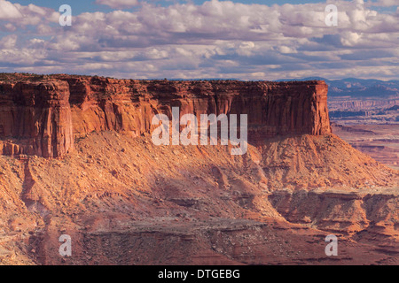 Murphy Point and Soda Springs Basin from the Green River Viewpoint in Canyonlands National Park, Utah. - Stock Photo