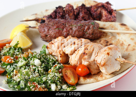 grilled shish tawook kebab and kofta arabic food stock photo 60357946 alamy. Black Bedroom Furniture Sets. Home Design Ideas