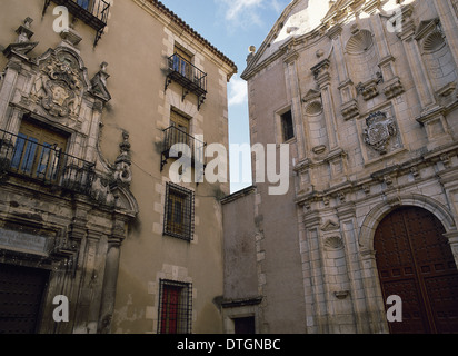 Spain. Cuenca. Conciliar Seminary of Saint Julian and Convent of the Blessed Virgin Mary of Mercy, - Stock Photo