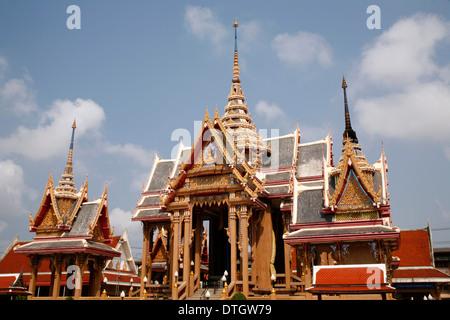 Wat Pom Wichian Chotikaram, Mahachai, Samut Sakhon, Thailand - Stock Photo