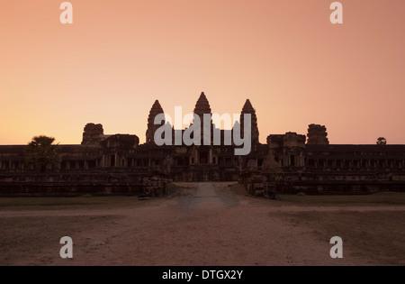 Eastern view of Angkor Wat at dusk, Cambodia
