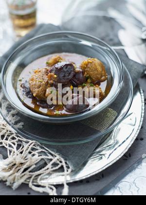 Lamb,prune and honey Tajine