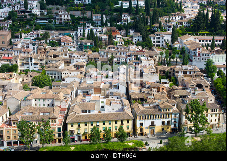 View of town of Granada, Andalusia, Spain - Stock Photo