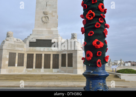 Memorial to seaman lost in war on Southsea seafront, Portsmouth, England, UK - Stock Photo