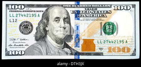 us 100 dollar bill - Stock Photo