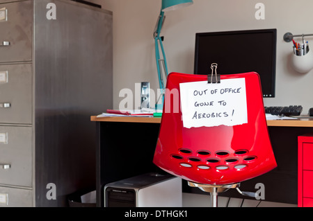 Out of Office. Gone to Aerobics! - Stock Photo