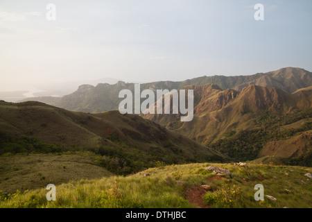 Dawn in Altos de Campana National Park, Panama province, Republic of Panama. - Stock Photo