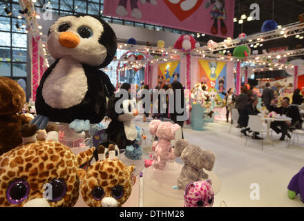New York, NY, USA. 18th Feb, 2014. New toys are seen on display during the 111th American International Toy Fair - Stock Photo