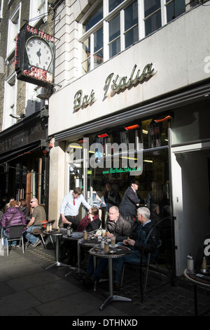 Bar Italia on Frith Street, London, United Kingdom - Stock Photo