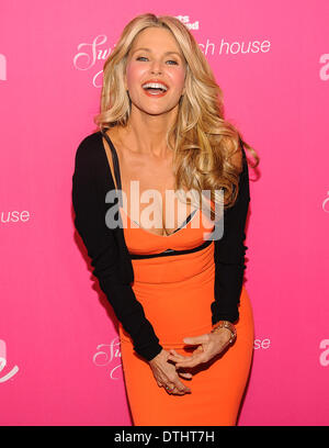 New York City, USA, 17 February, 2014. Model Christie Brinkley arrives at a 50th Anniversary party for Sports Illustrated Swimsuit in Soho, NYC. Credit:  Patrick Morisson/Alamy Live News