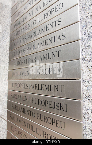 Europaen parlament table - Stock Photo