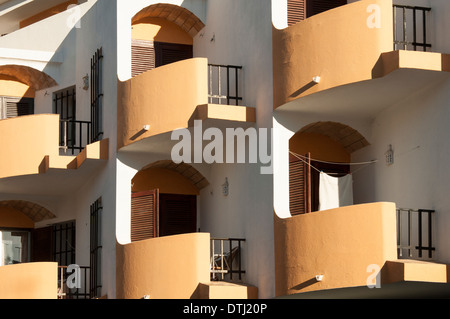 small modern apartments, Carvoeiro in the Algarve Portugal - Stock Photo