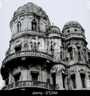 Esplanade Mansions in Kolkata Calcutta in West Bengal in India in South Asia. House Housing Dilapidated Dilapidation - Stock Photo