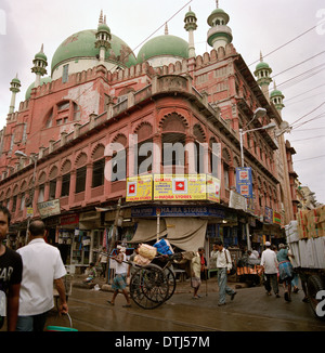 Nakhoda Mosque in Kolkata Calcutta in West Bengal in India in South Asia. Muslim Moslem Religion Religious Islam - Stock Photo