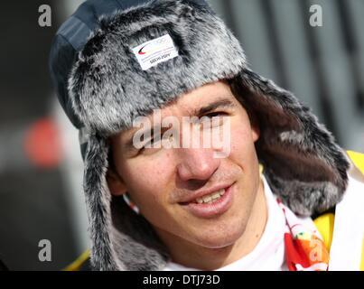 Krasnaya Polyana, Russia. 19th Feb, 2014. Felix Neureuther of Germany seen after the Men's Giant Slalom Alpine Skiing - Stock Photo