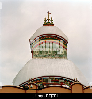 Kalighat Temple in Kolkata Calcutta in West Bengal in India in South Asia. Hindu Religion Religious Architecture - Stock Photo