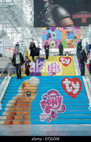 Ty Inc. branded stairs at the 111th American International Toy Fair in the Jacob Javits Convention center in New - Stock Photo