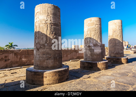 The Ancient Egyptian Temple at Kom Ombo on the banks of the River Nile. - Stock Photo