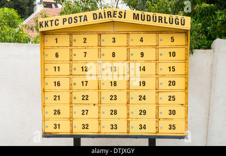 Numbered Mail Post Boxes - Stock Photo