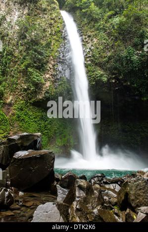 Celeste River or Rio Celeste in Tenorio Volcano National Park of Costa Rica Central America - Stock Photo