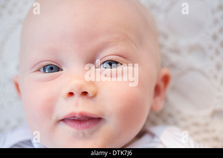 Close up of baby girl's face - Stock Photo