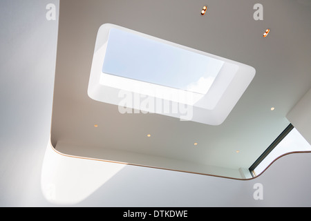 Skylight and recessed lights of modern house - Stock Photo